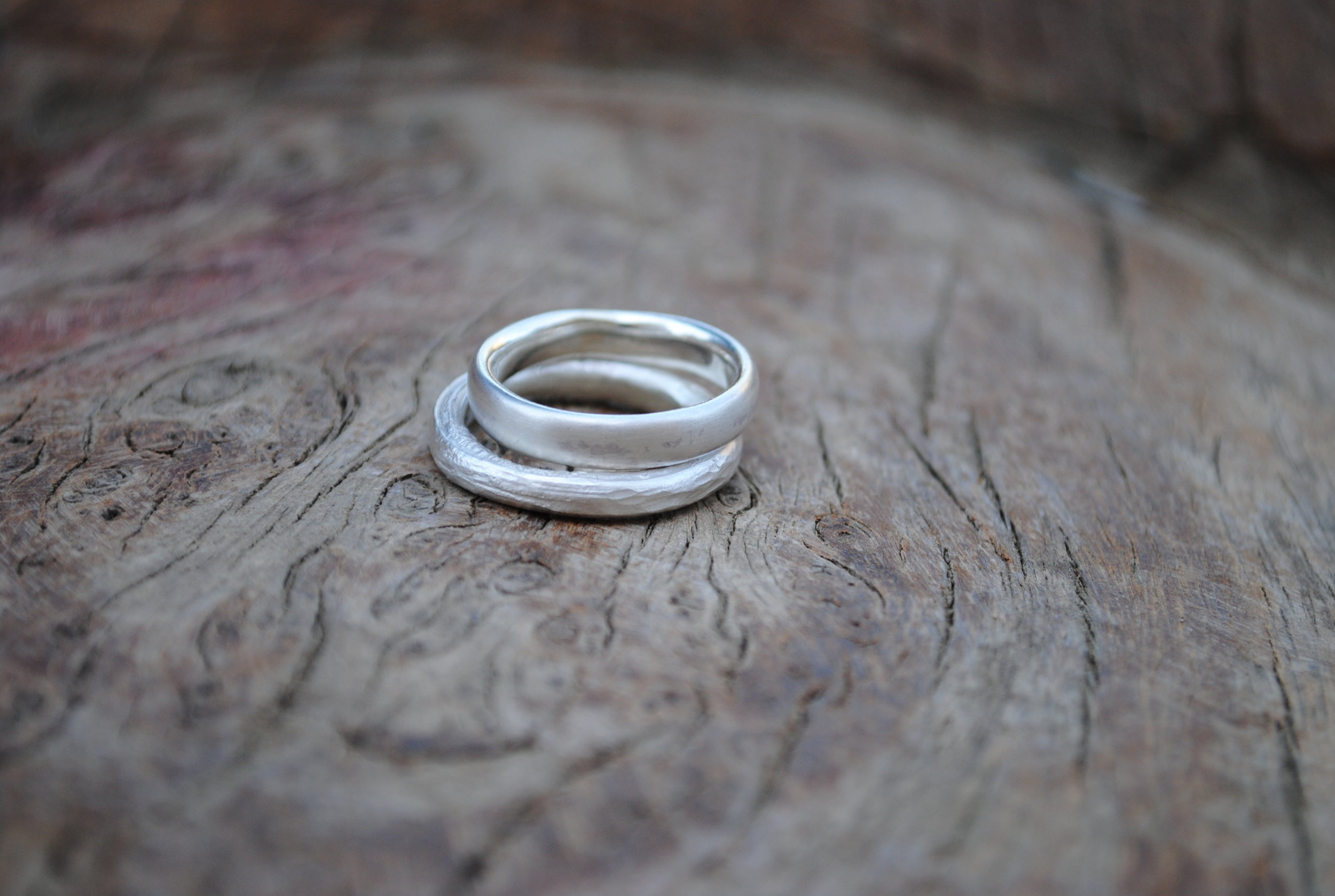 Two Silver Ring Set £60.
