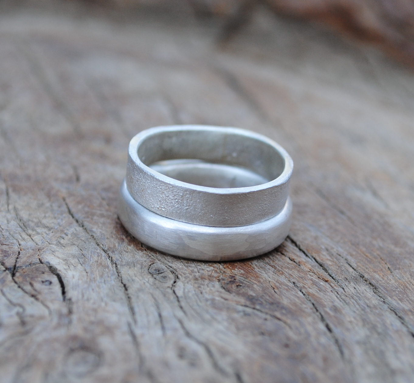 Two Silver Ring Set £75.