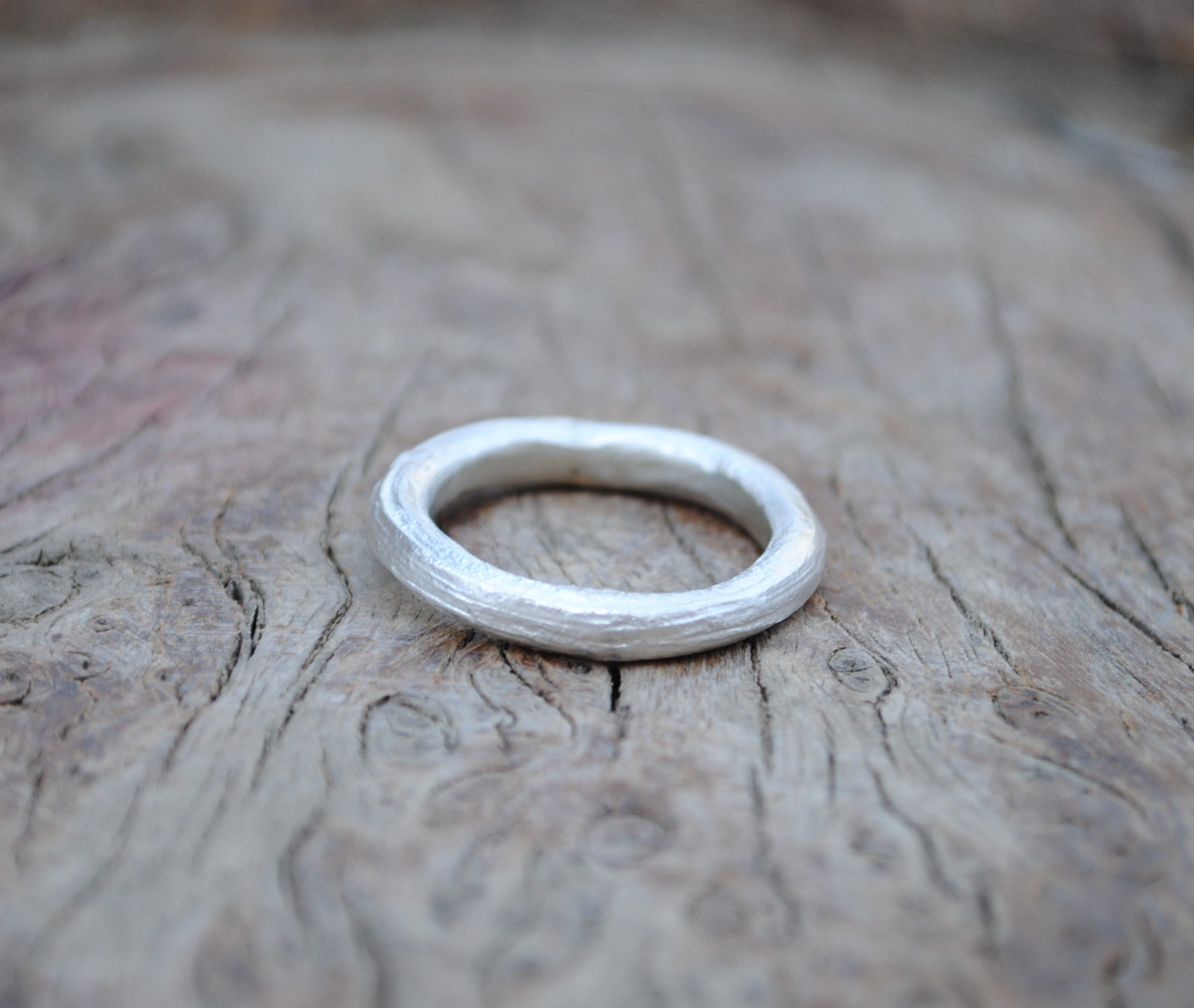 Reticulated Chunky Silver Ring £40.