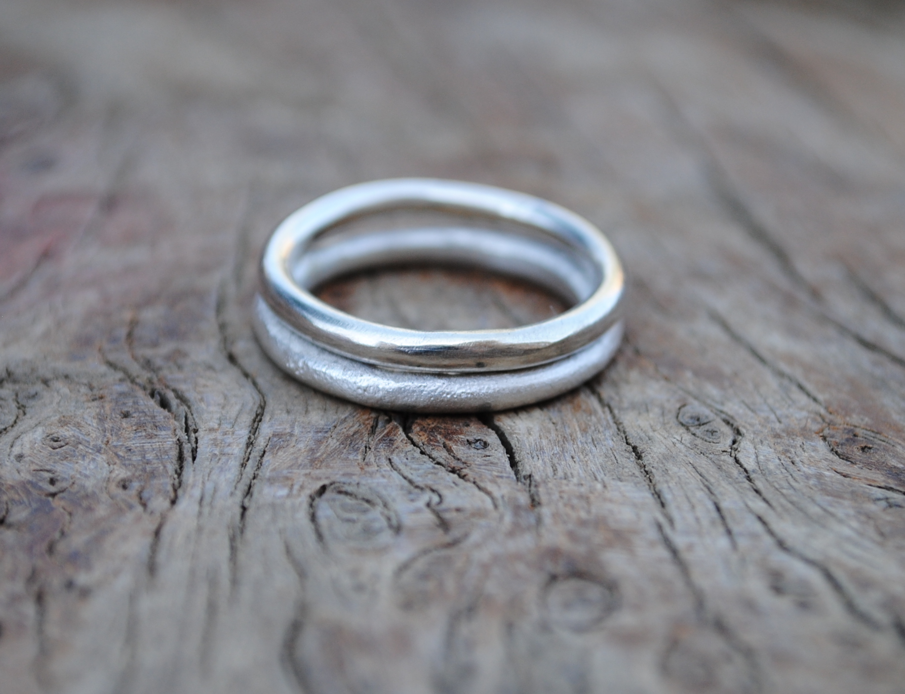 Two Silver Ring Set £50.