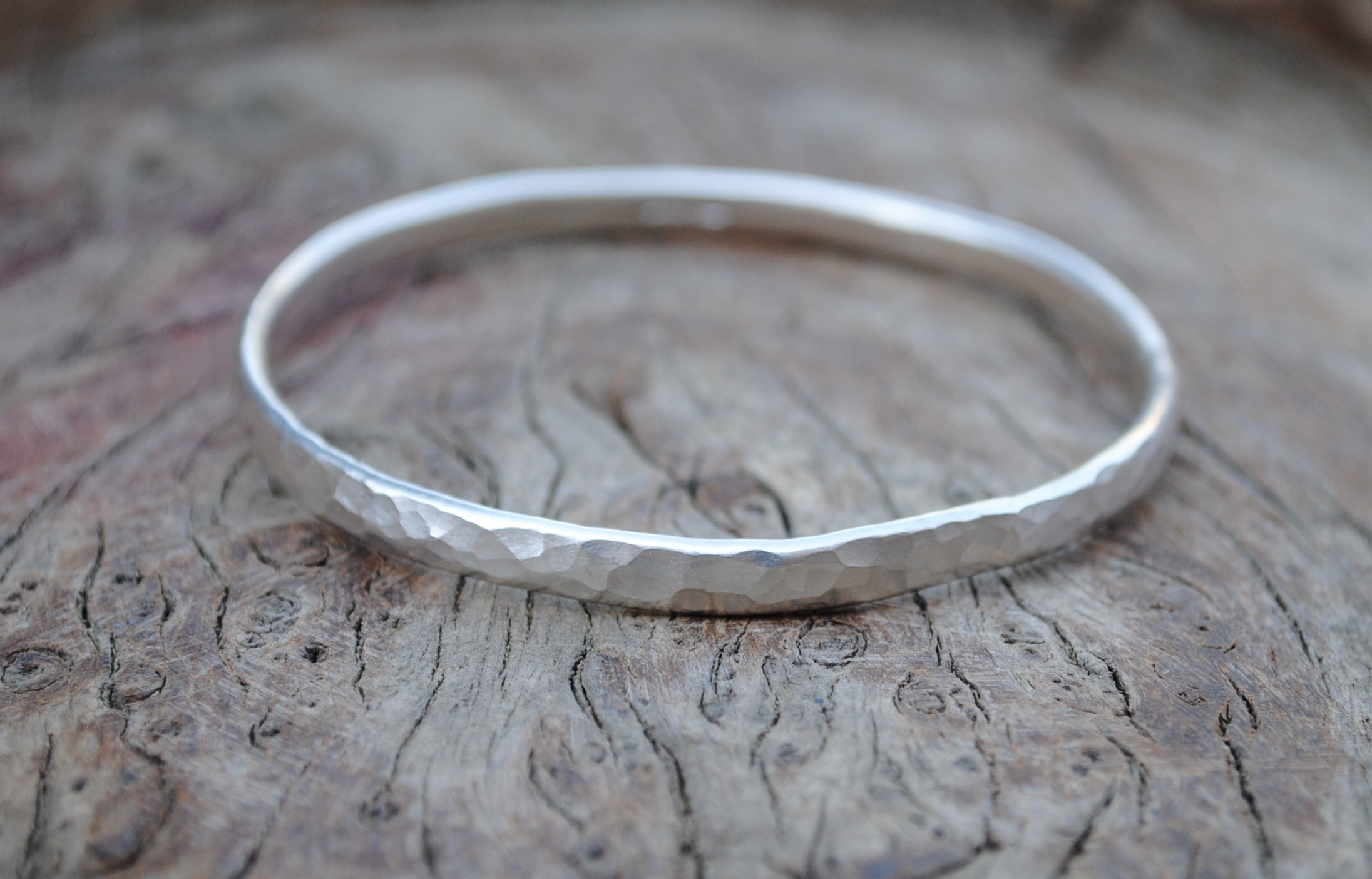 Hammered Oval Wire Bangle £110.