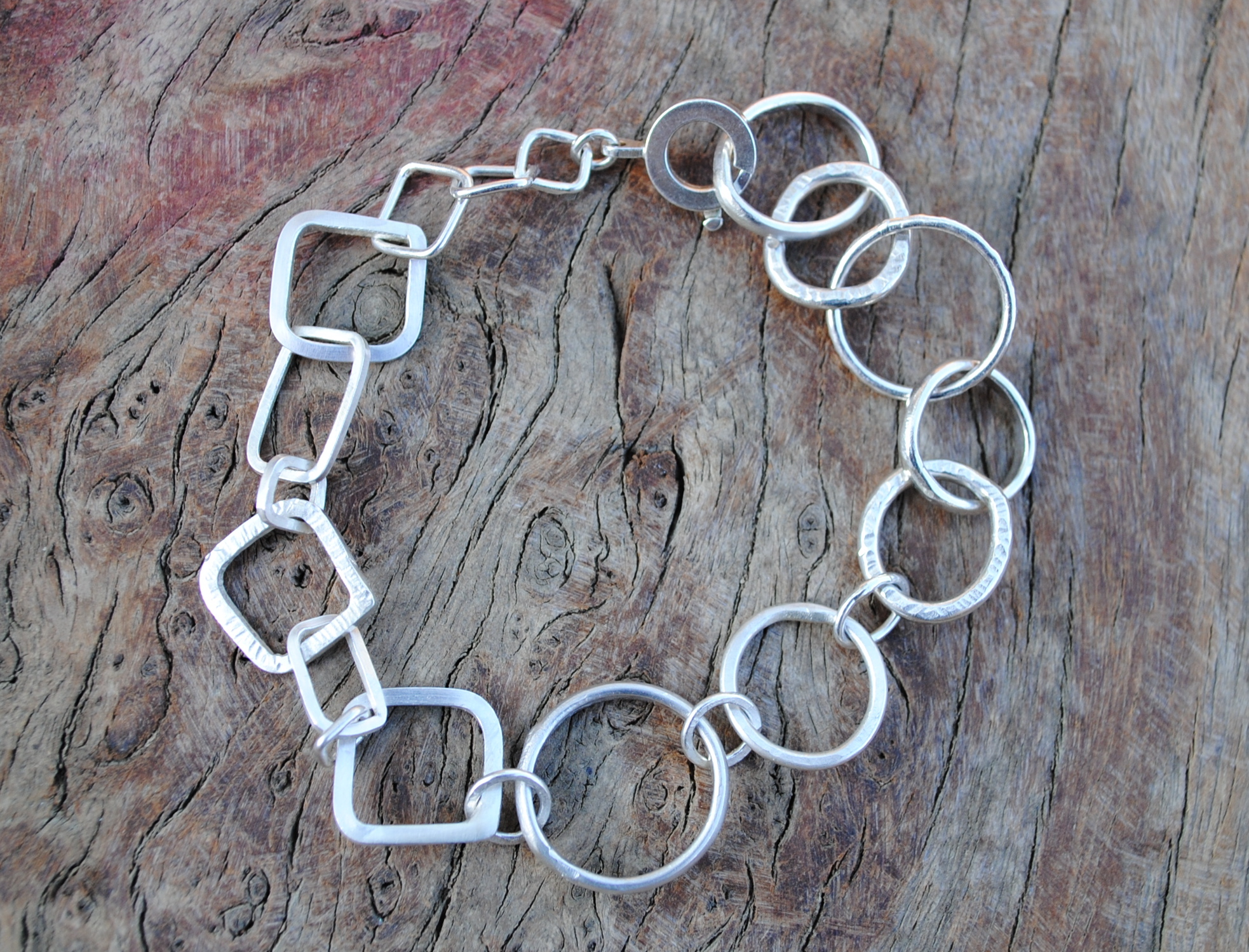 Square and Circle Bracelet Larger £200.