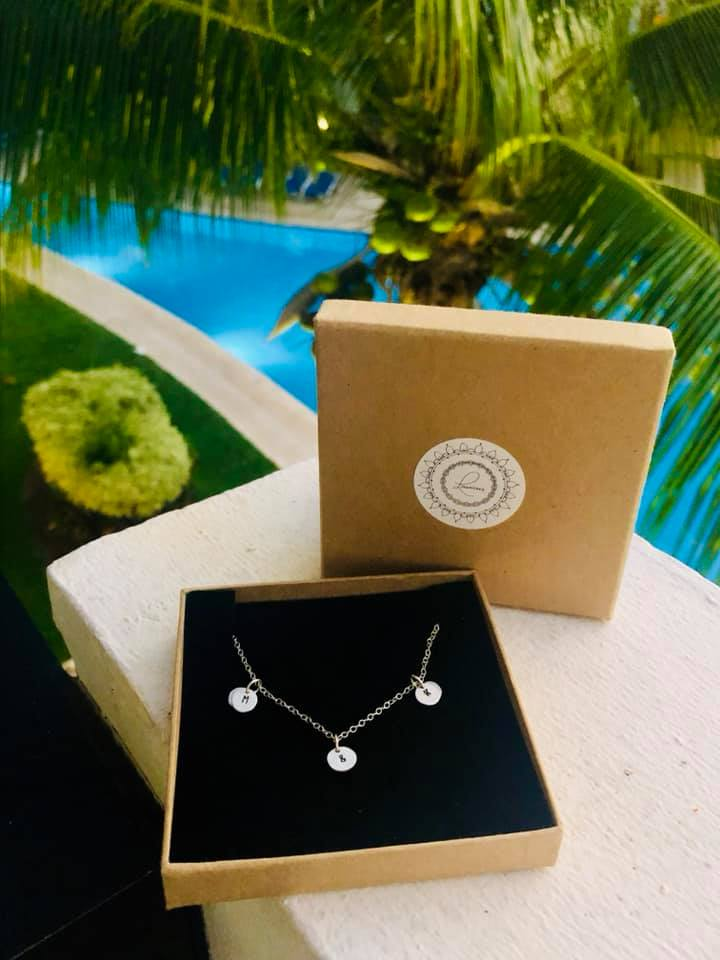 """""""I cannot recommend Lucy enough for her amazing jewellery making skills! Lucy kindly made all my wedding gifts for me. These being for my mums, bridesmaids and pageboys ranging from engraved dog tags for the boys, to little cut out turtles engraved for the bridesmaids as we got married in Mexico! Her work is outstanding and of great quality! I couldn't have asked for anyone better to do the job and everyone loved there jewellery! Can't Thankyou anymore ! They were all perfect ! Would recommend to anyone who is looking for that unique gift as Lucy's work fits the job to perfection!!"""" - -Megan Edwards."""