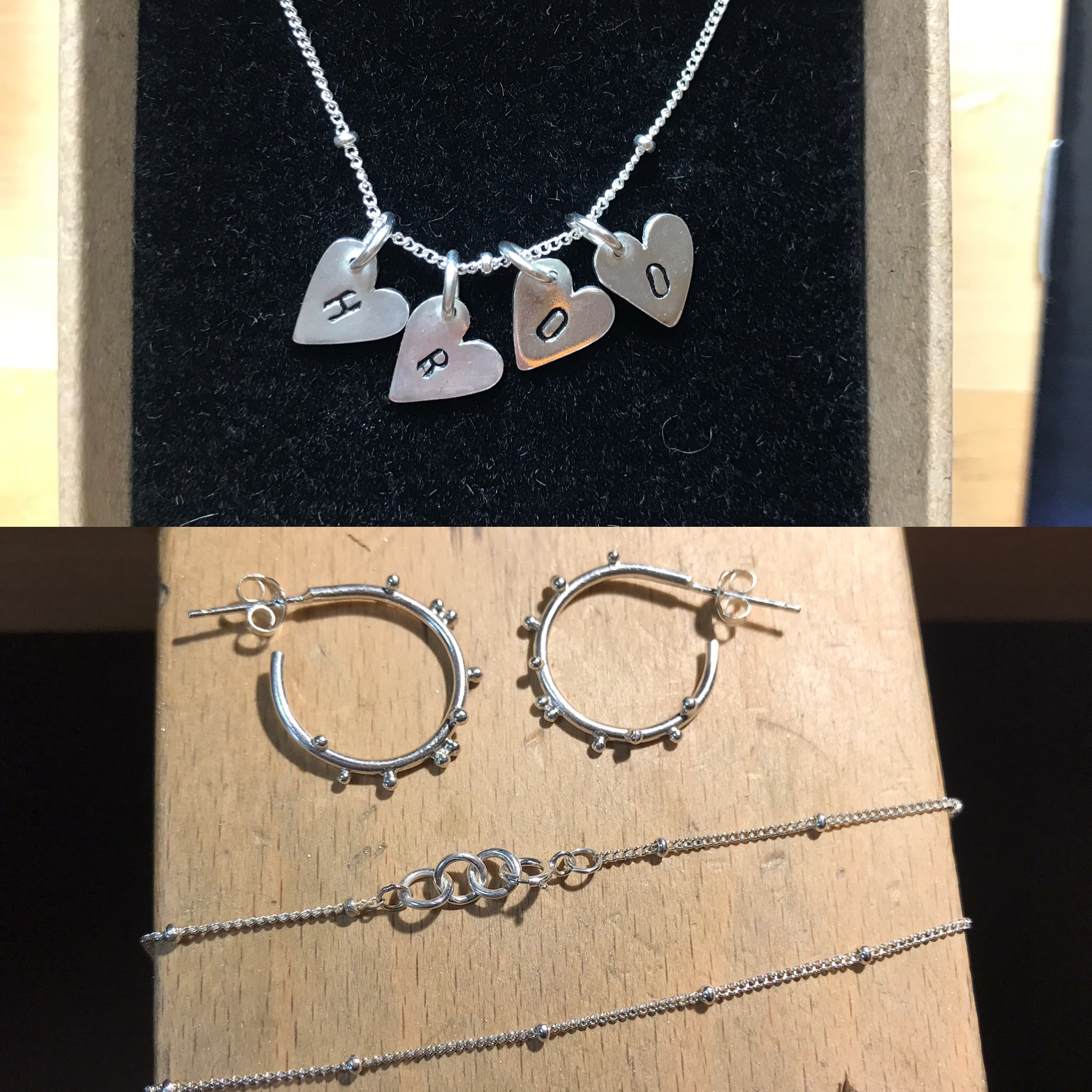 Amazing xx so happy with my necklace and have purchased earrings & anklet to match 😍 xx thank you so much Lucy for my wonderful jewellery xx - -Hayley Harris.