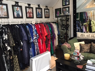Rows of dresses and a chaise longue for me!