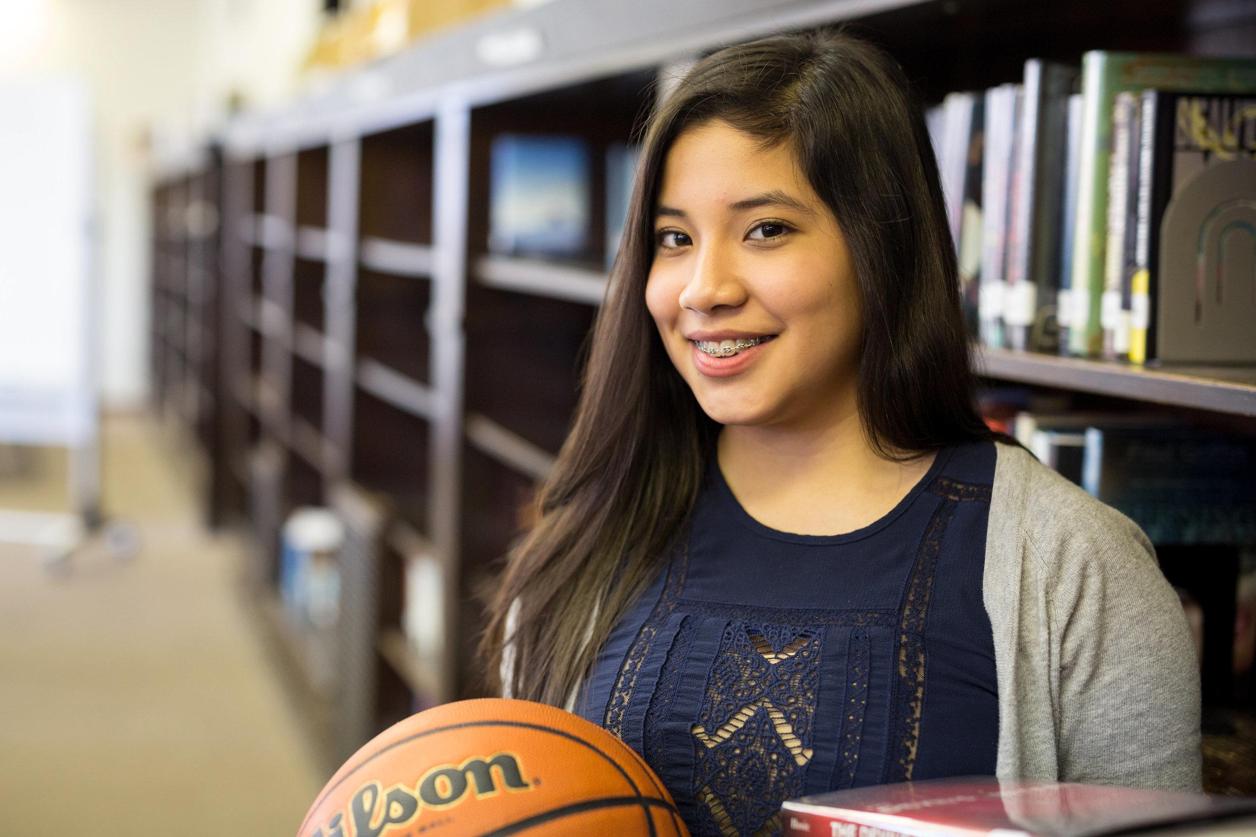 Estefania Sanchez, Sophomore Greeley Elementary School Lake View High School STEM Program Volleyball, Basketball, Track Teams Choir