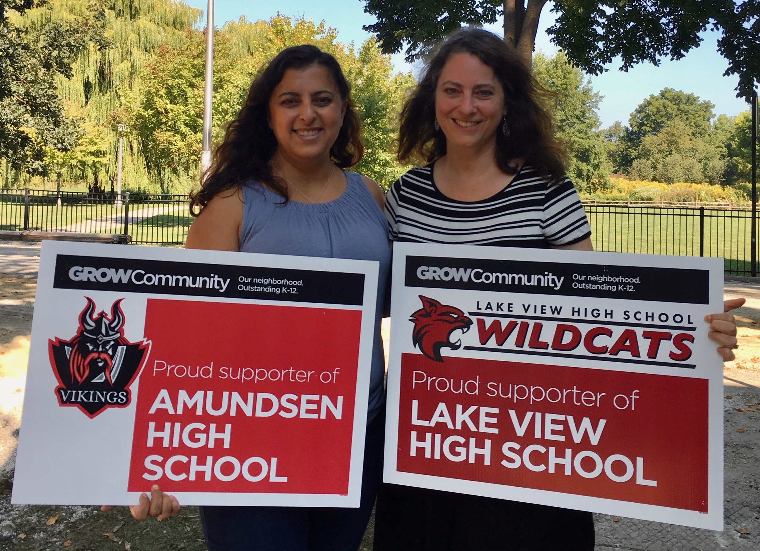 Beneen Prendiville (left) and Andrea Jacobs (right) are new Amundsen and Lake View parents.