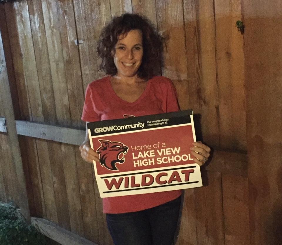 Lake View parent Amy Smolensky