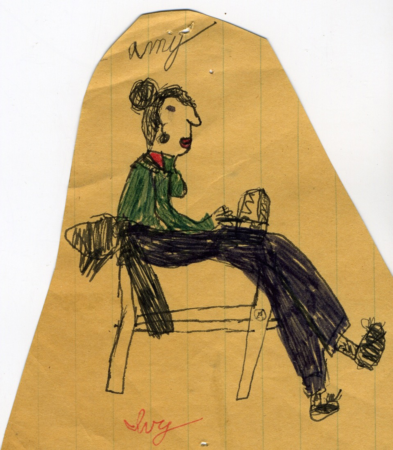 Childhood drawing, Ivy Crewdson (Amy's daughter)