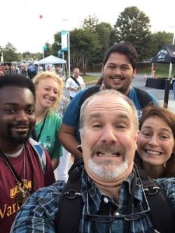 In Atlanta at the Catalyst Conference, Director Alan Johnson, Assistant Director Kristi Gadwa, Intern Tray Washington, Intern Joshua Hanna and Shawna Johnson.