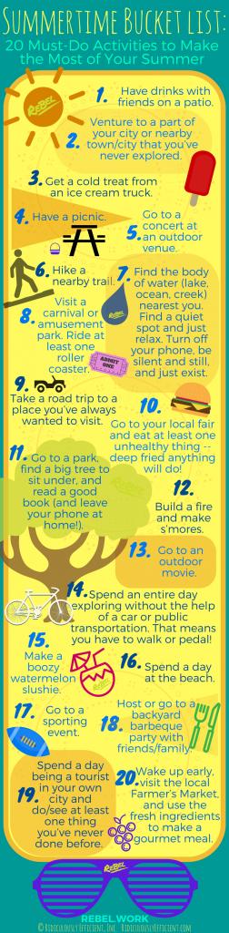 Summertime Bucket list_