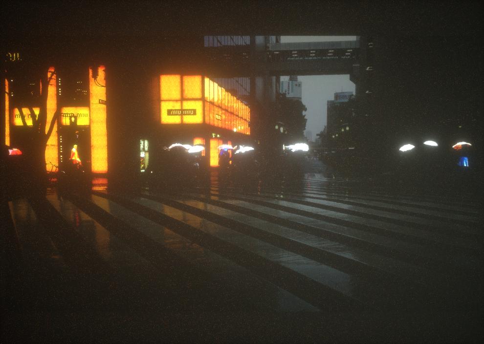 Shopping district in Sakae, Nagoya.