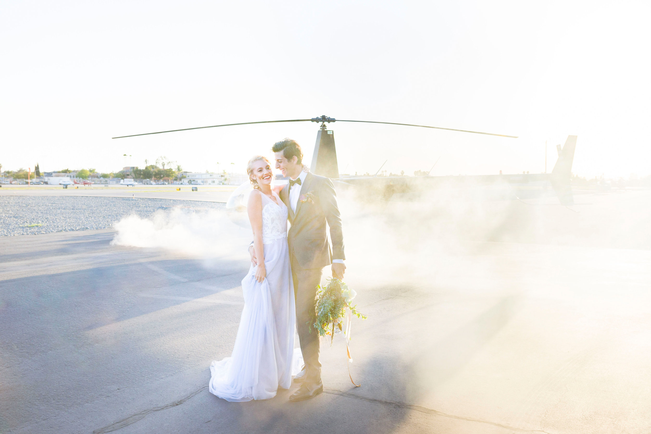 hangar wedding bride and groom.jpg