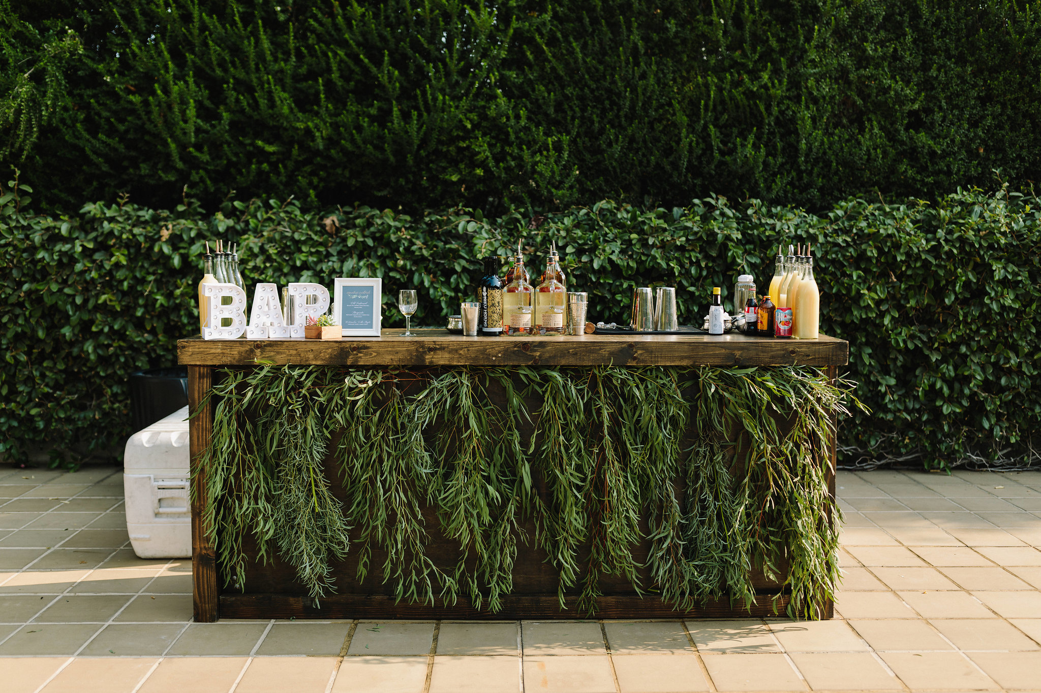 wood bar greenery drape.jpg