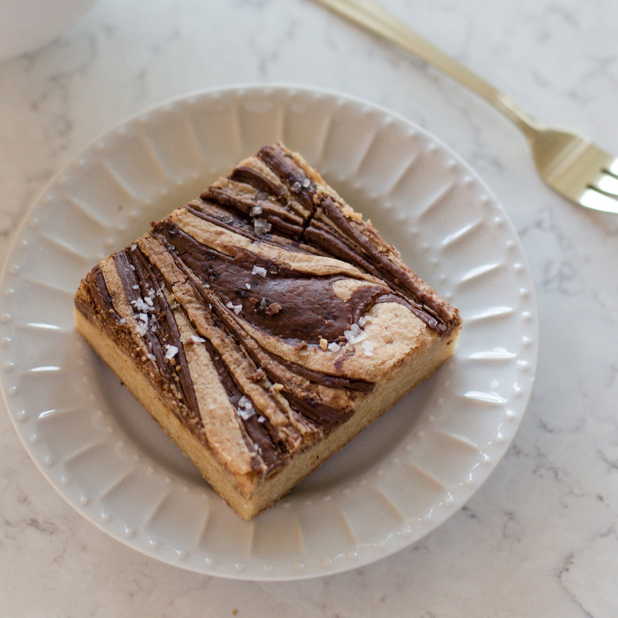 Salted Nutella Blondie