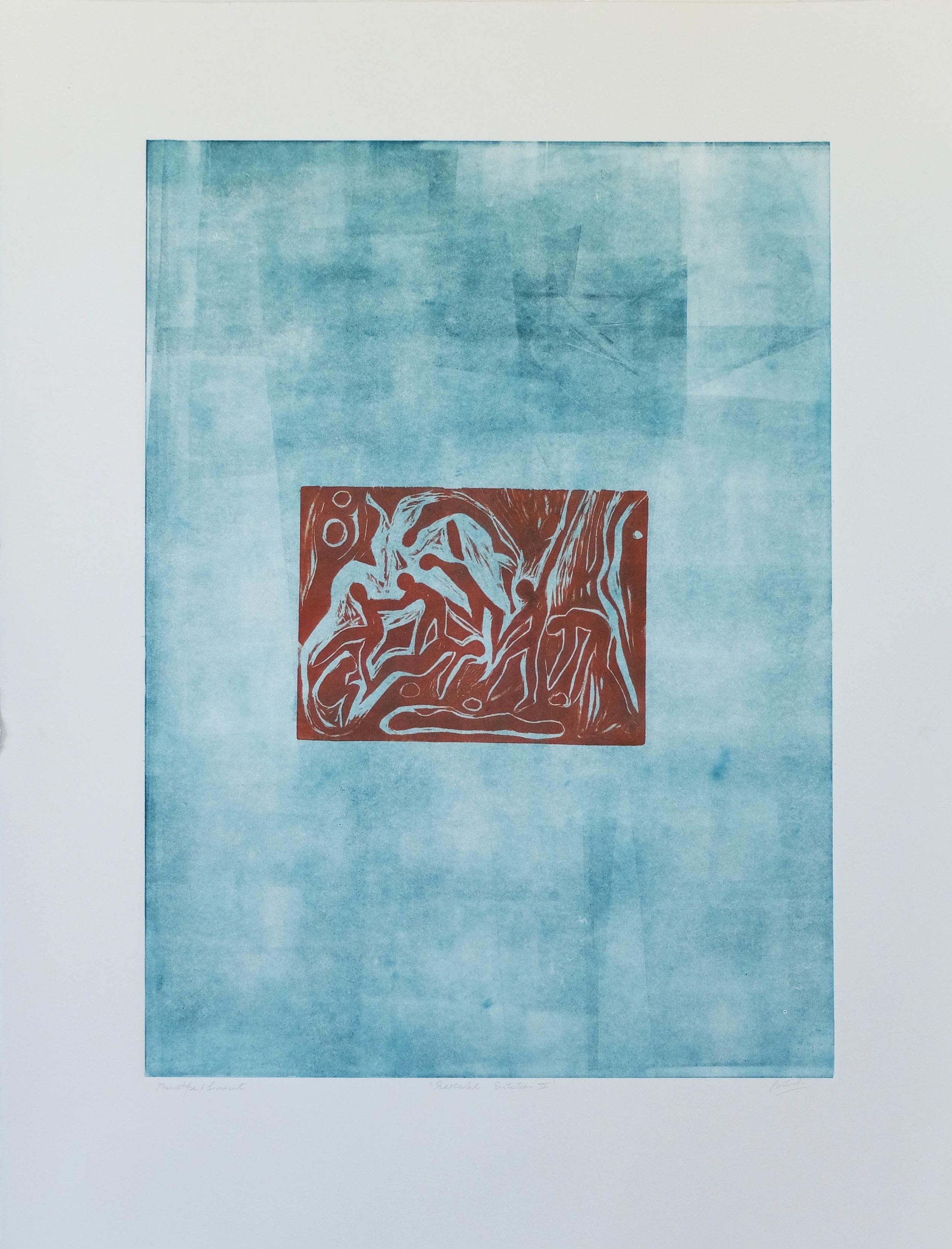 Aqua & Earth 22'' x 30''