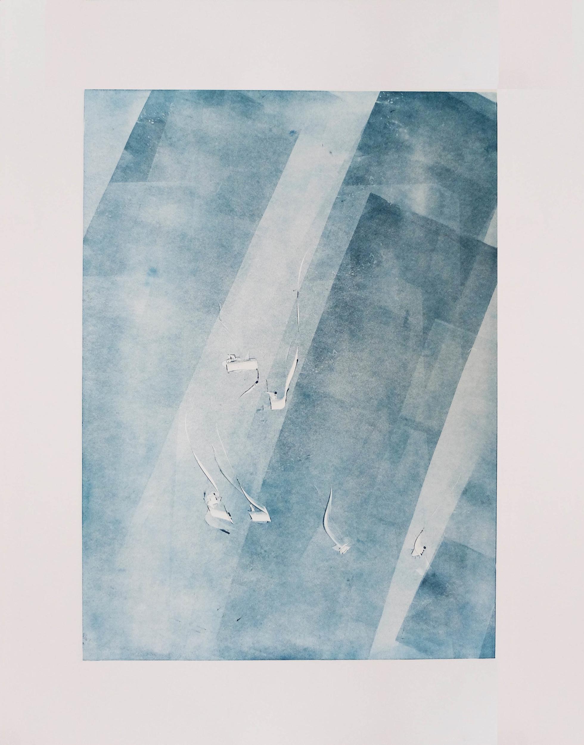 Aqua & Air II 22'' x 30''  Monotype