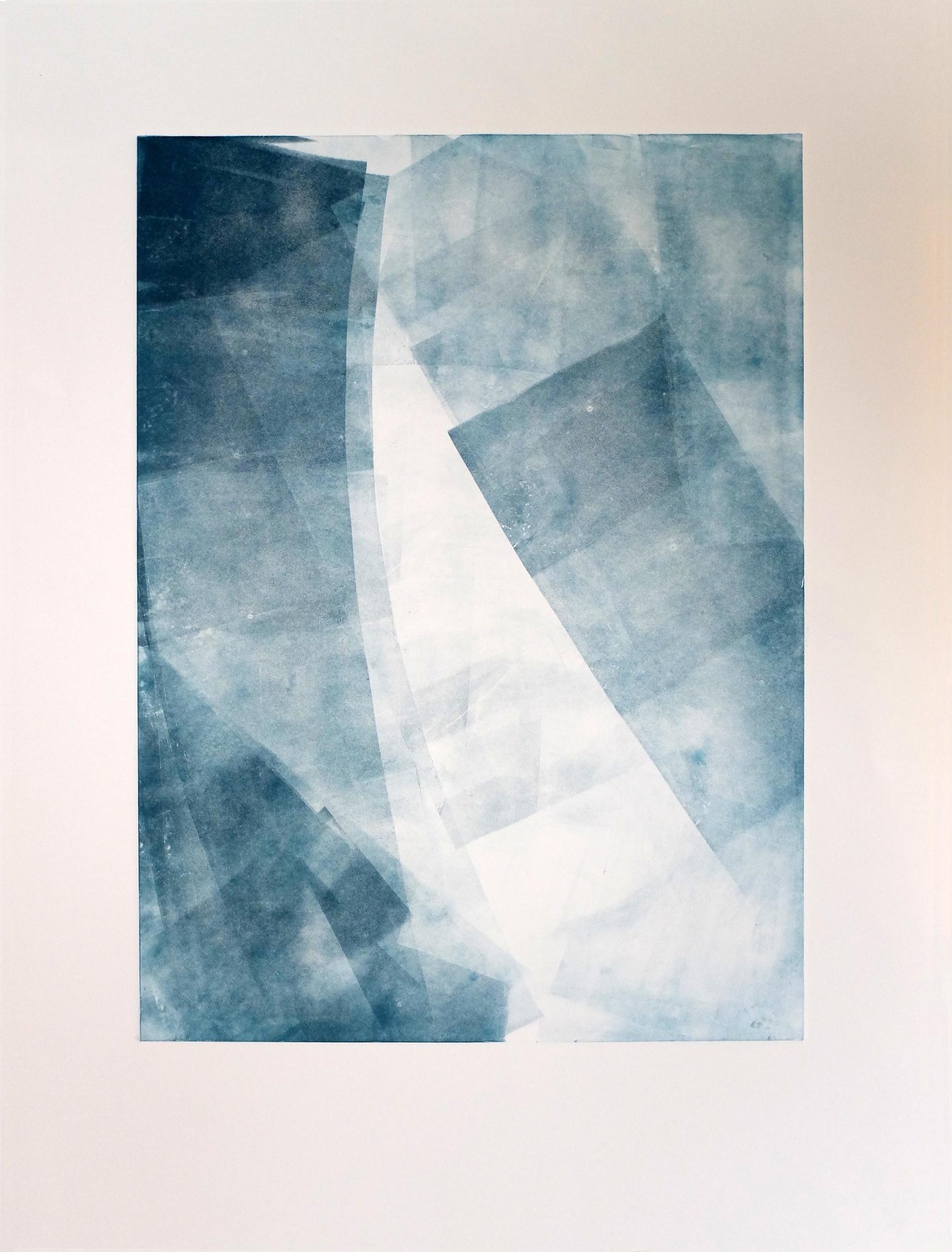 Aqua & Air 22'' x 30'' Monotype