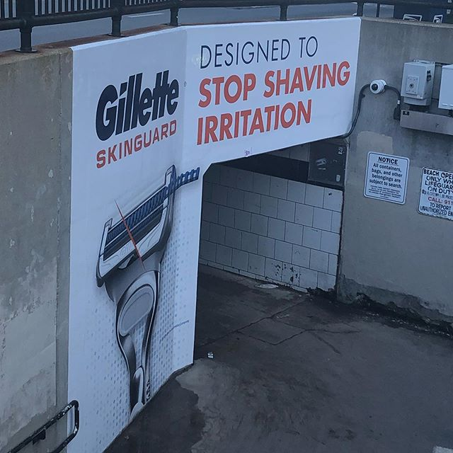 Smart @gillette summer ad placement - 100-1000s (maybe 10,000+ impressions over entire summer) as Chicagoans make their way to North Ave Beach.
