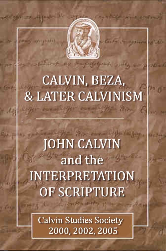 Publications — Calvin Studies Society