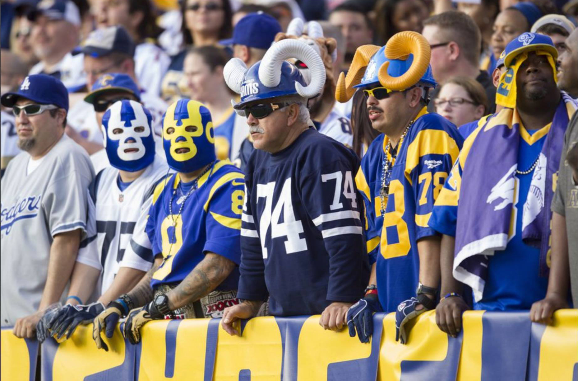 "Staff Members  Aron & Joe ""Silver Fox"" Ramirez , picture was taken during the Rams vs Chargers game at Qualcomm Stadium. (2014)   Click on image to view photos"
