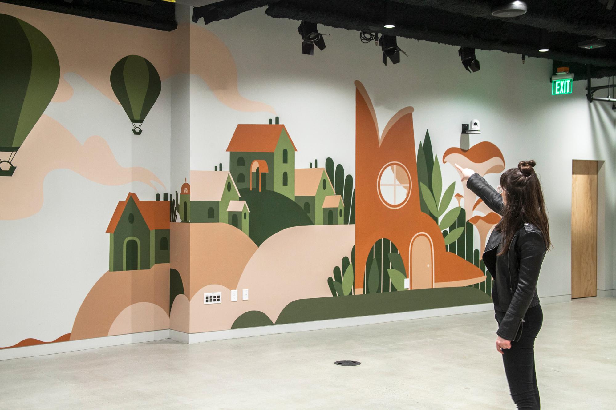 Airbnb mural Seattle HQ