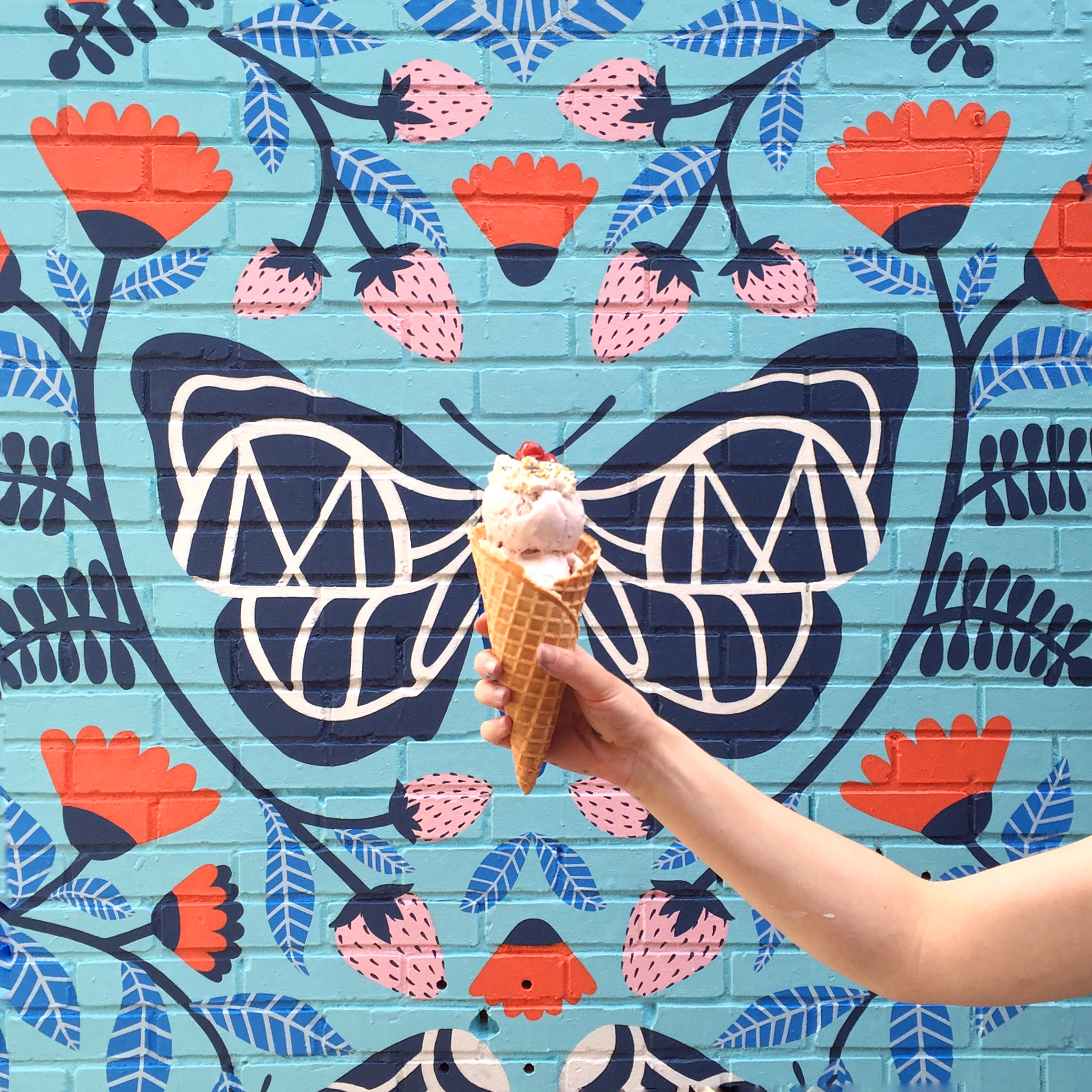 Molly Moon's Ice-Cream mural, Wallingford location
