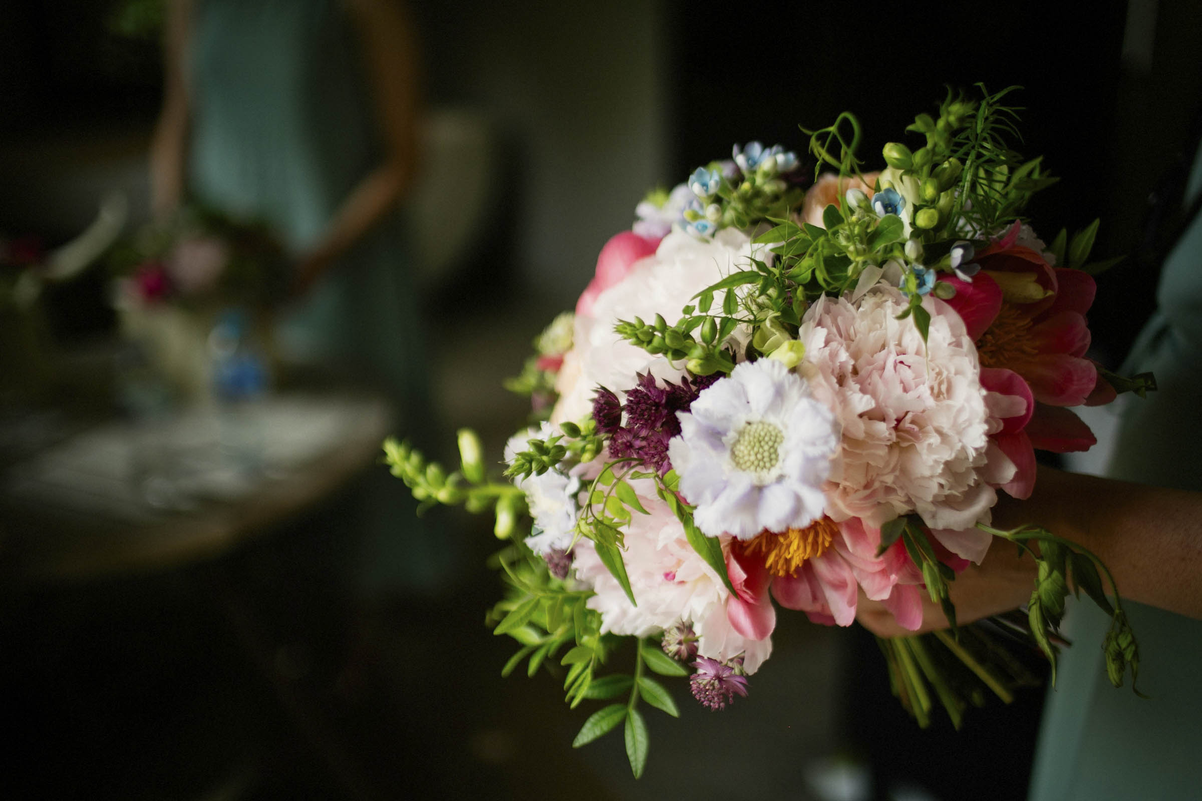 bridal bouquet of spring flowers
