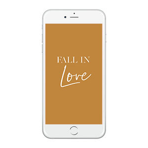 Fall in Love Wallpaper
