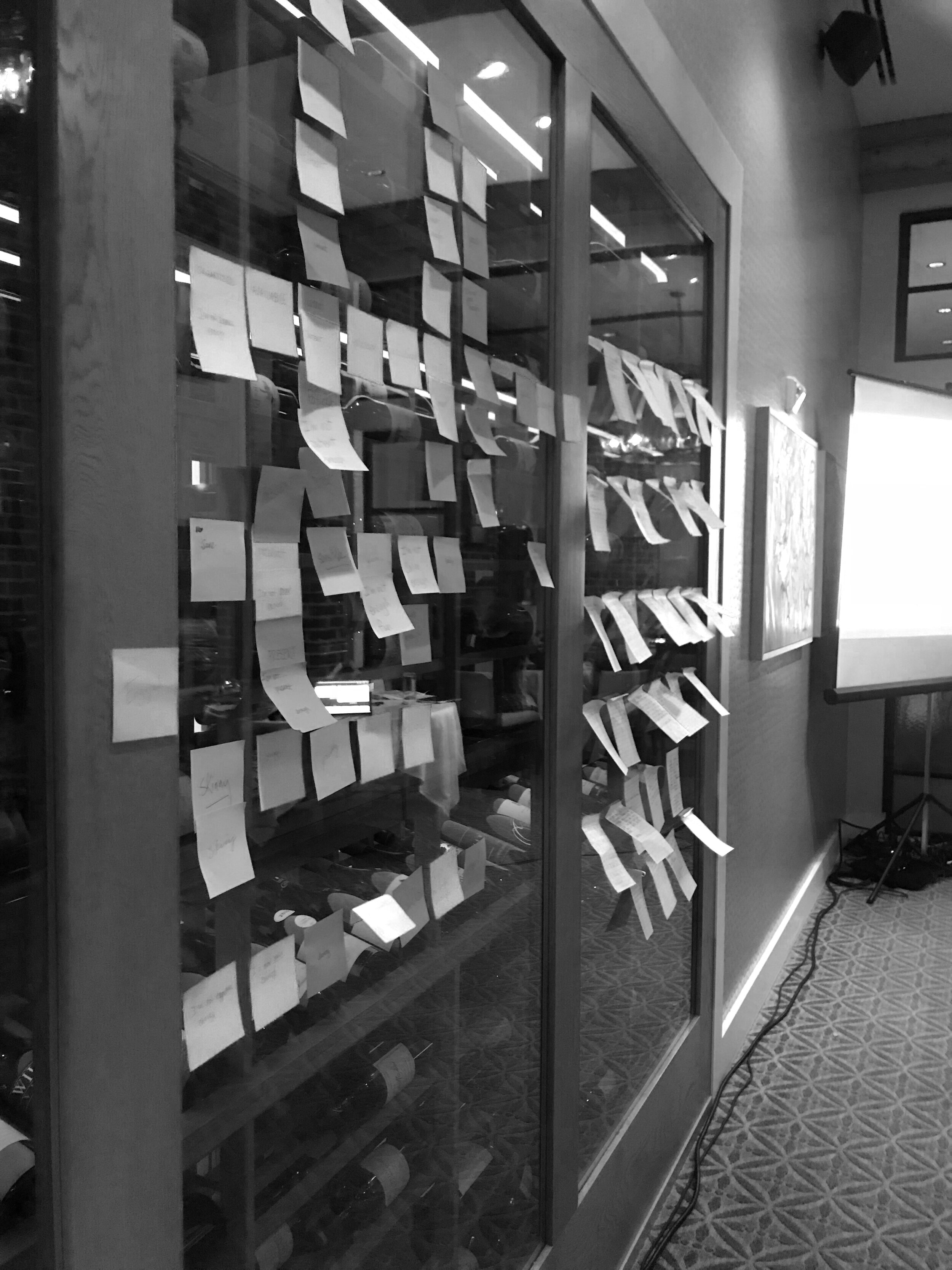 Hoarding the office's Post-it supply -