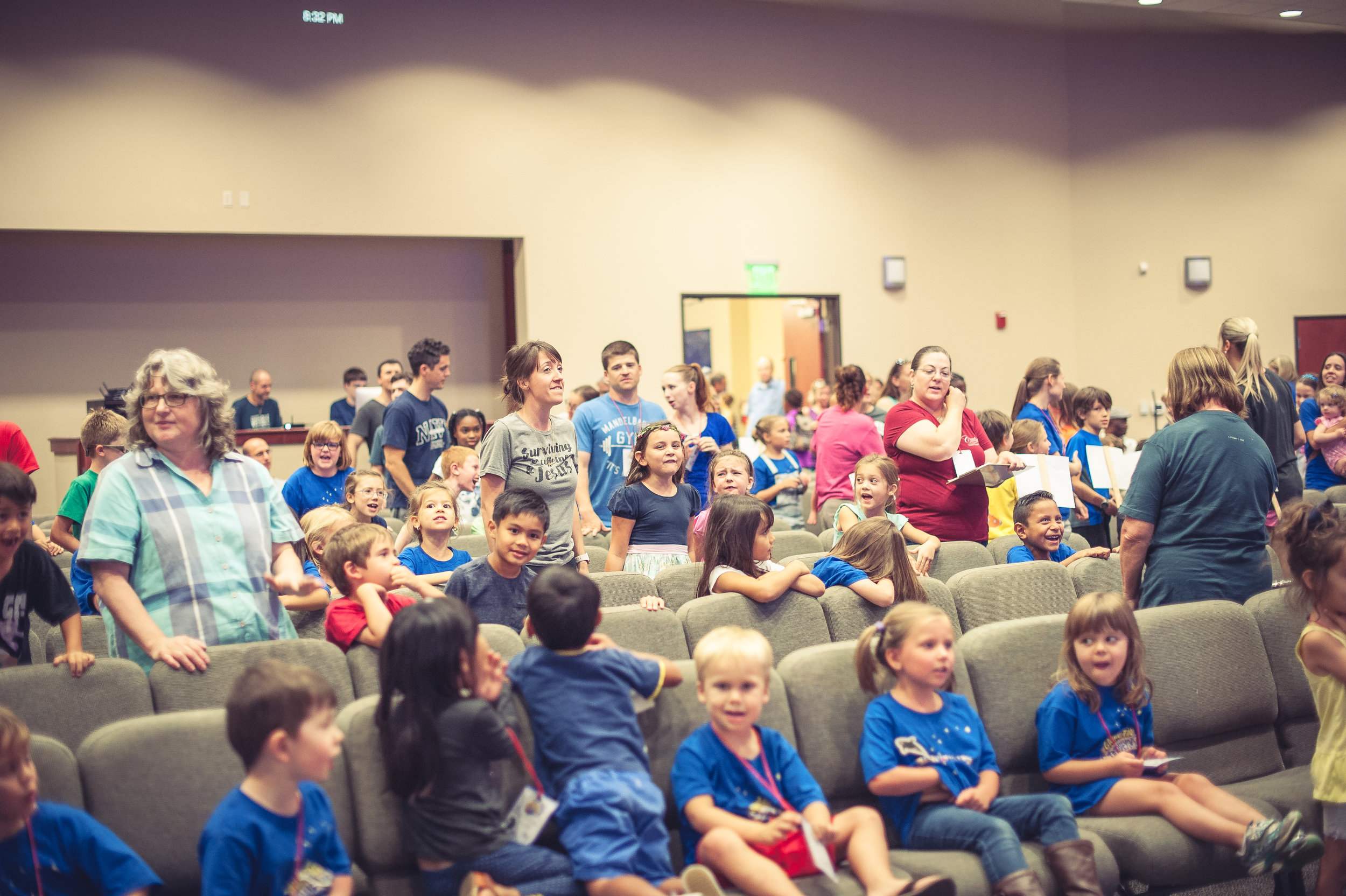 Awana - AWANA happens Sunday evenings from 5:30-7:00pm, September thru June.  The acronym A.W.A.N.A. comes from the first letters of Approved Workmen Are Not Ashamed, taken from 2 Timothy 2:15. In this high-energy, exciting program, kids memorize Scripture, study the Bible, play games and learn about Jesus!