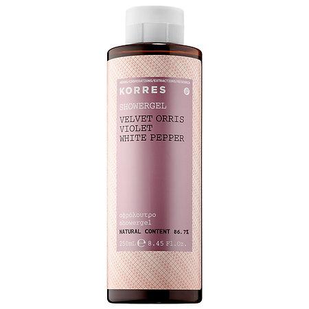 Korres   Velvet Orris Violet White Pepper Showergel; $18.50