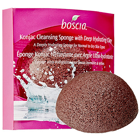 Boscia  Konjac Cleansing Sponge with Deep Hydrating Clay; $15