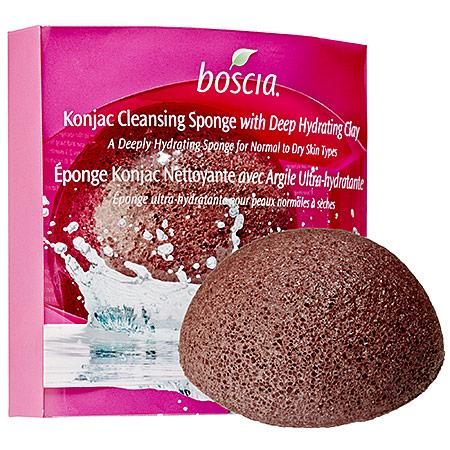 Boscia  Konjac Cleansing Sponge with Deep Hydrating Clay; $15