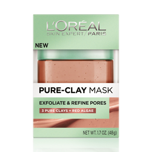 L'Oreal Paris  Pure Clay Mask: Exfoliate& Refine Pores; $12.99