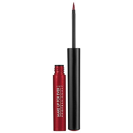 Make Up For Ever  Aqua Liner Liquid Eyeliner in 10 Iridescent Red ( brink red sheen ); $23