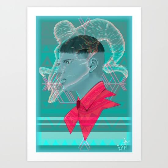 Aries by Musya print availanle  here