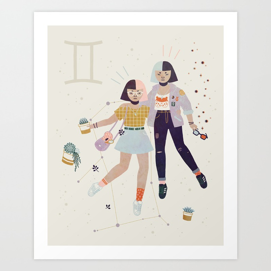 Gemini by Lord of Masks print available   here