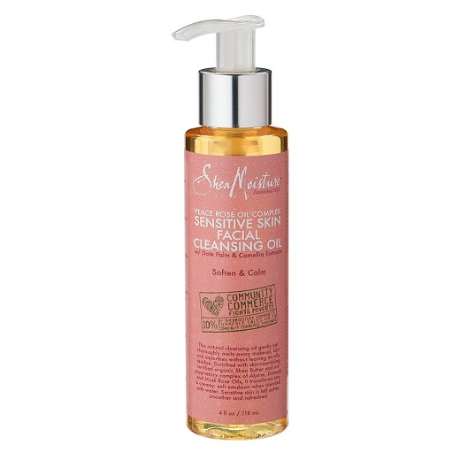 Shea Moisture   Peace Rose Oil Complex Sensitive Skin Facial Cleansing Oil;   $9.99