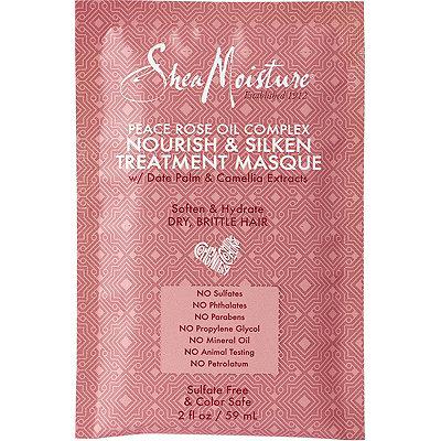 S     hea Moisture   Peace Rose Oils Complex Nourish & Silken Treatment Masque w/Date Palm & Camellia Extract;   $3.49
