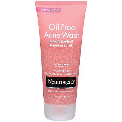 Neutrogena   Oil-Free Acne Wash Pink Grapefruit Foaming Scrub;    $     9.99