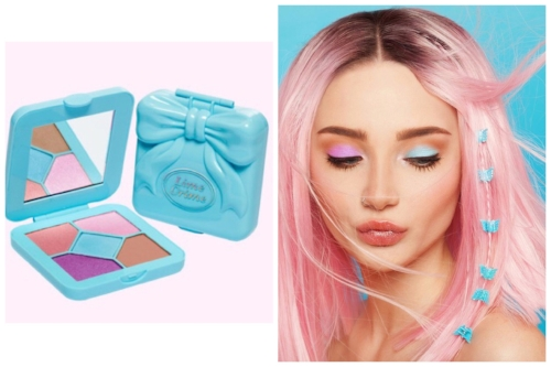 The Bubblegum palette is the most playful, with cool shimmering brights and neutrals.