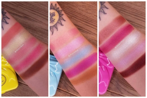 Credit:  @dupethat (Swatches of each Pocket Candy Palette)