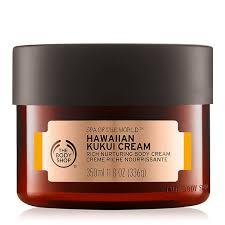 T     he Body Shop   Spa Of The World Hawaiian Kukui Cream;   $36