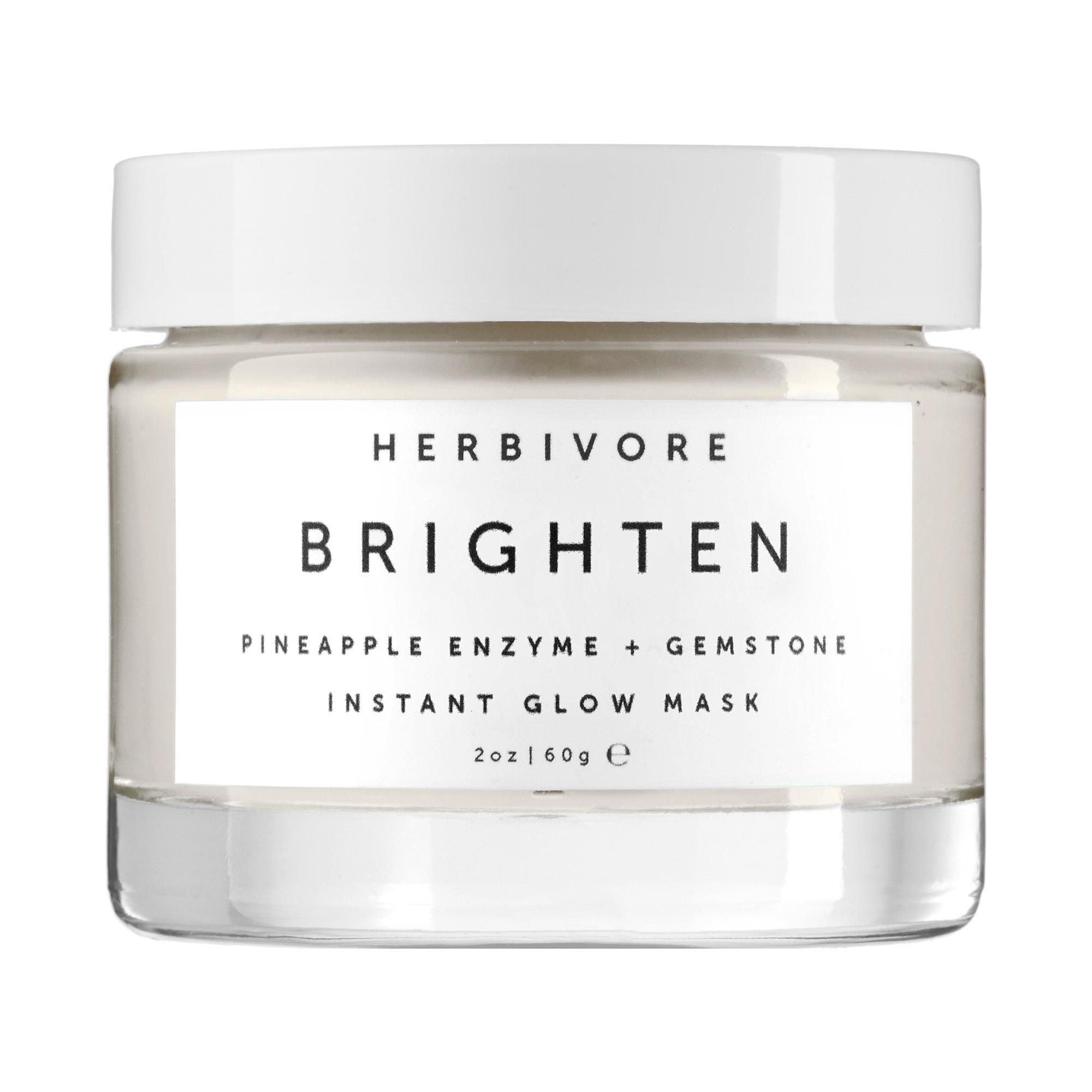 Herbivore   Brightening Pineapple Enzyme + Gemstone Instant Glow Mask