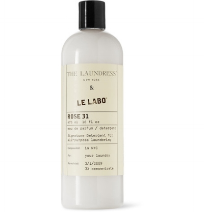 Le Labo Rose 31 Signature Detergent, 475ml 45.00   https://www.luckyscent.com/product/47600/le-labo-rose-31-signature-detergent-by-the-laundress