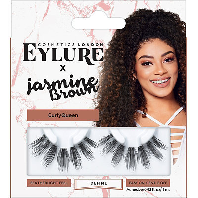 E     ylure X Jasmine Brown   Curly Queen Lashes