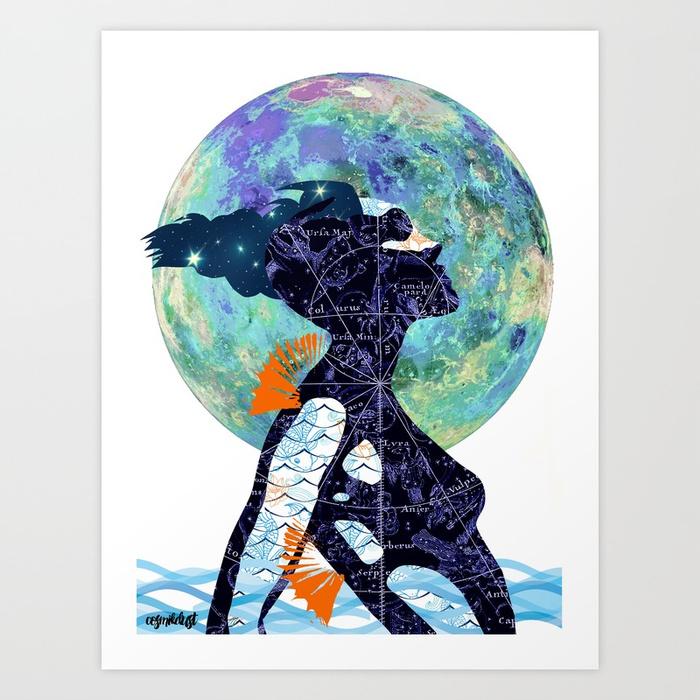 Pisces (zodiac series 1) by   cosmikdust