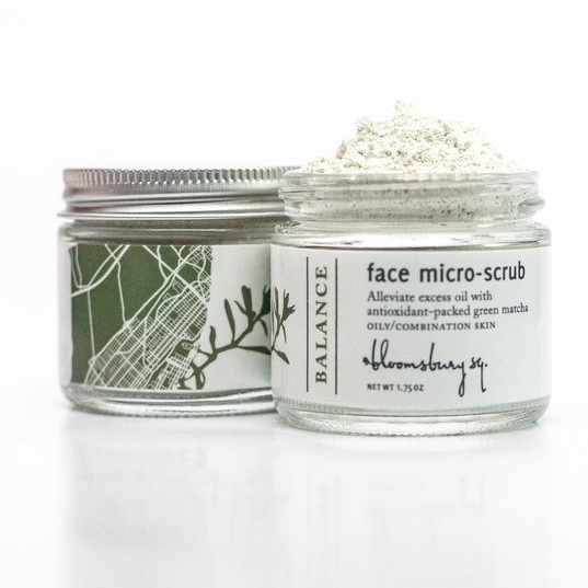 Bloomsbury Square    Balance Face Micro-scrub with Clarifying Matcha