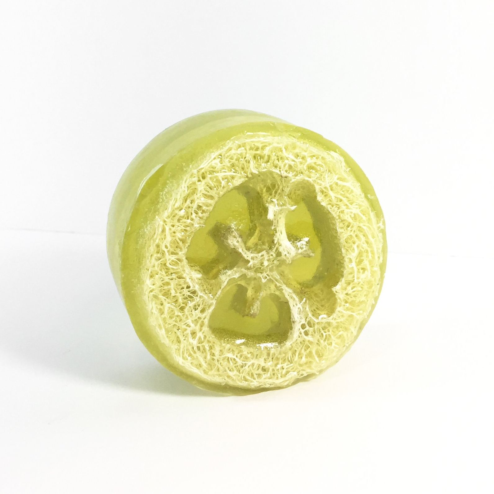 Honey Belle   Green Tea Cucumber Loofah Soap